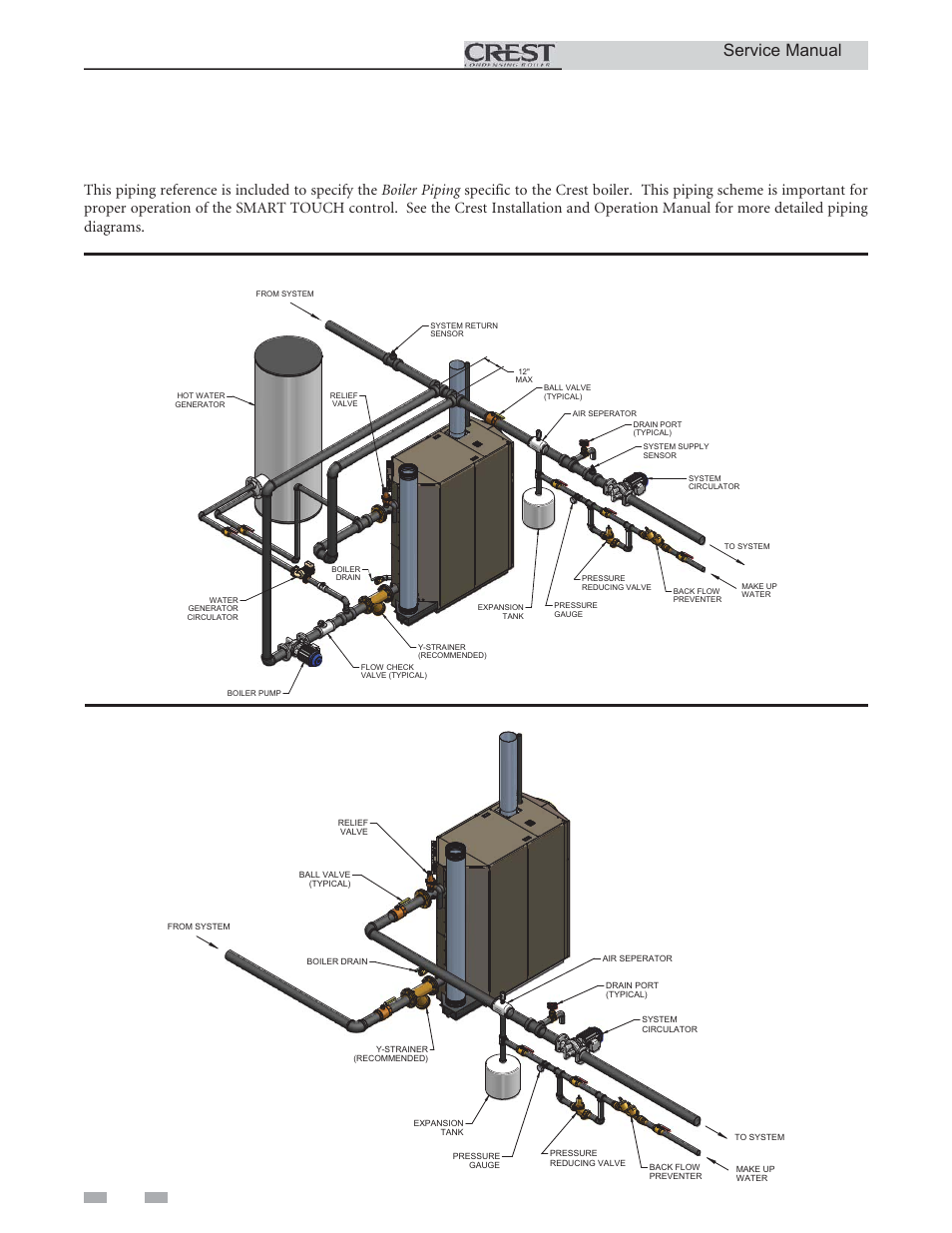 Service  Boiler Piping  Service Manual