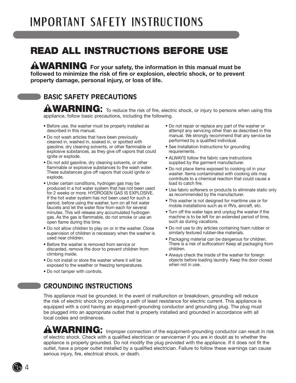 wwarning read all instructions before use basic safety precautions rh manualsdir com basic safety training course manual basic safety manual pdf