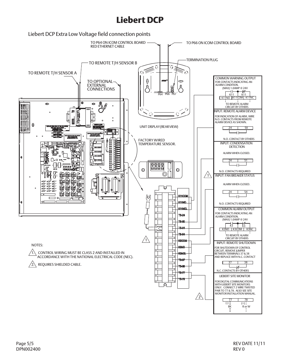 Liebert dcp | Liebert DCP DPN002400 User Manual | Page 5 / 5