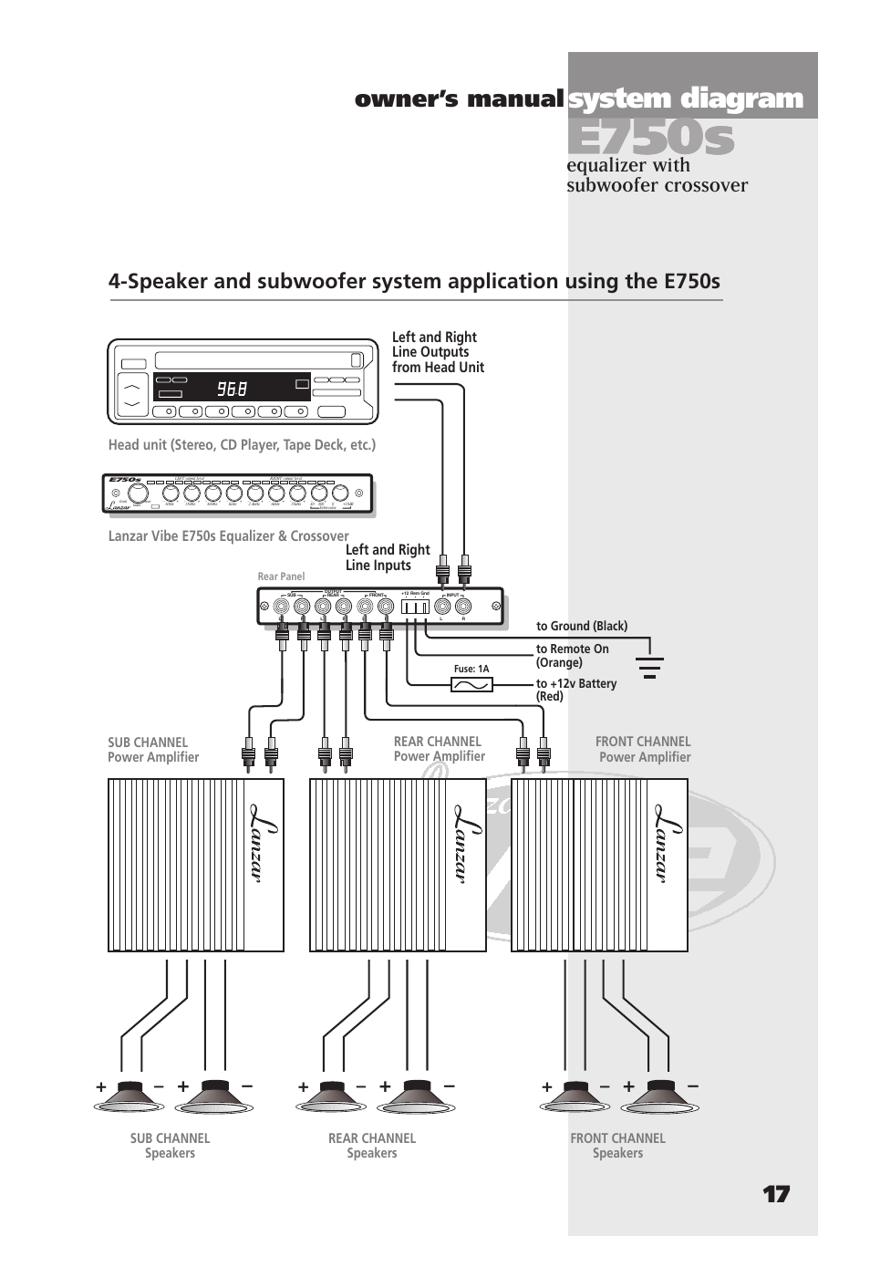 system diagram owner s manual 17 equalizer with subwoofer rh manualsdir com Lanzar Audio Lanzar Audio