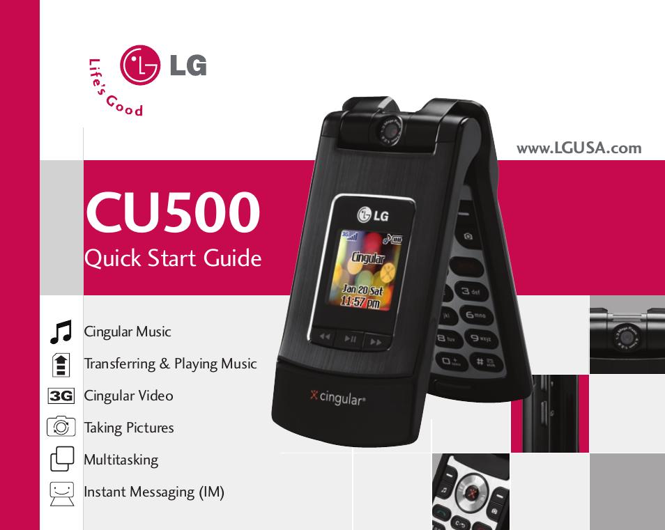 lg cu500 user manual 10 pages rh manualsdir com LG 500 Specs Review LG CU500