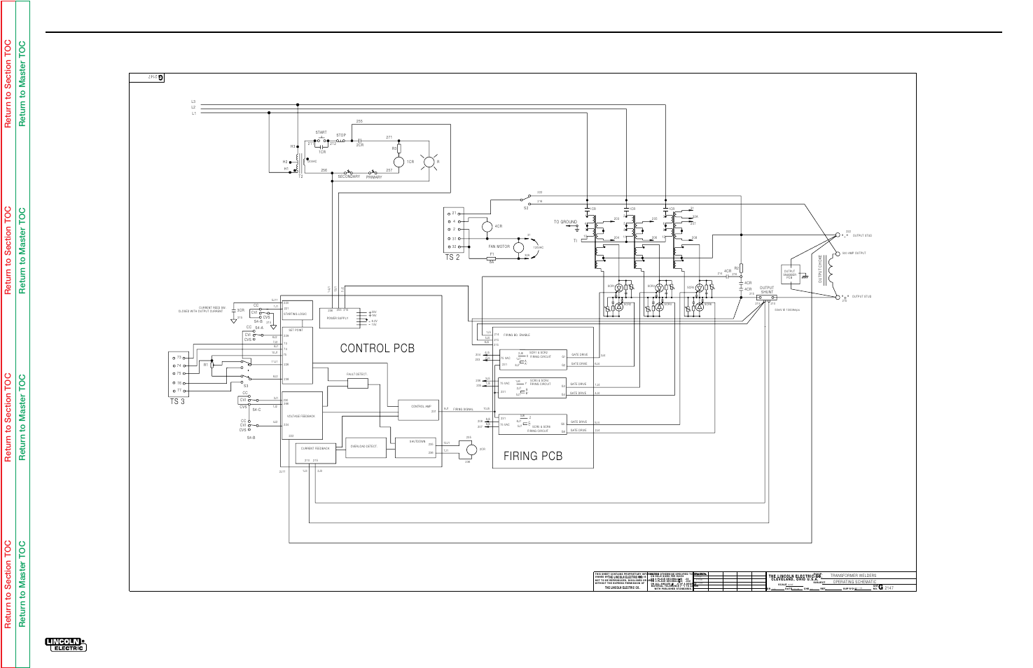 Electrical Diagrams  Operating Schematic  Idealarc Dc1000