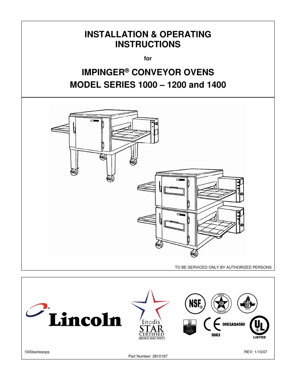 Lincoln Impinger 1132 Wiring Diagram Page 2 And Conveyor Belt 1200 User Manual 20 Pages Rh Manuair Com 1999 Navigator Engine