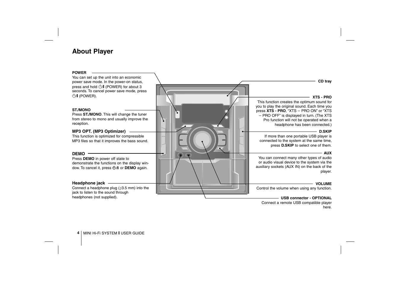 About Player Lg Mcd112 User Manual Page 4 12 Mono Headphone Jack Wiring
