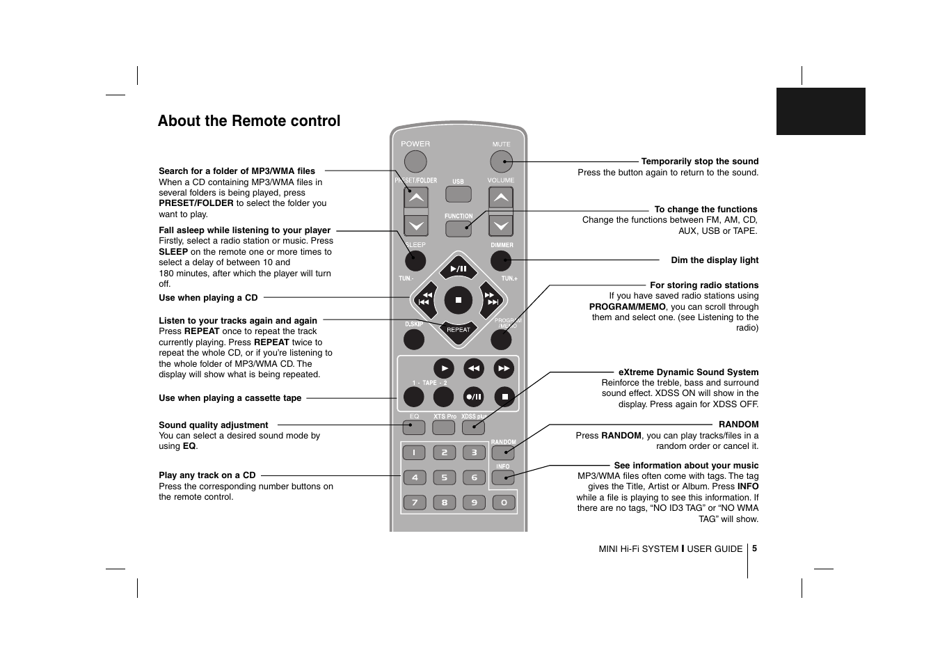 about the remote control lg mcd112 user manual page 5 12 rh manualsdir com Best MP3 Players Sears MP3 Player