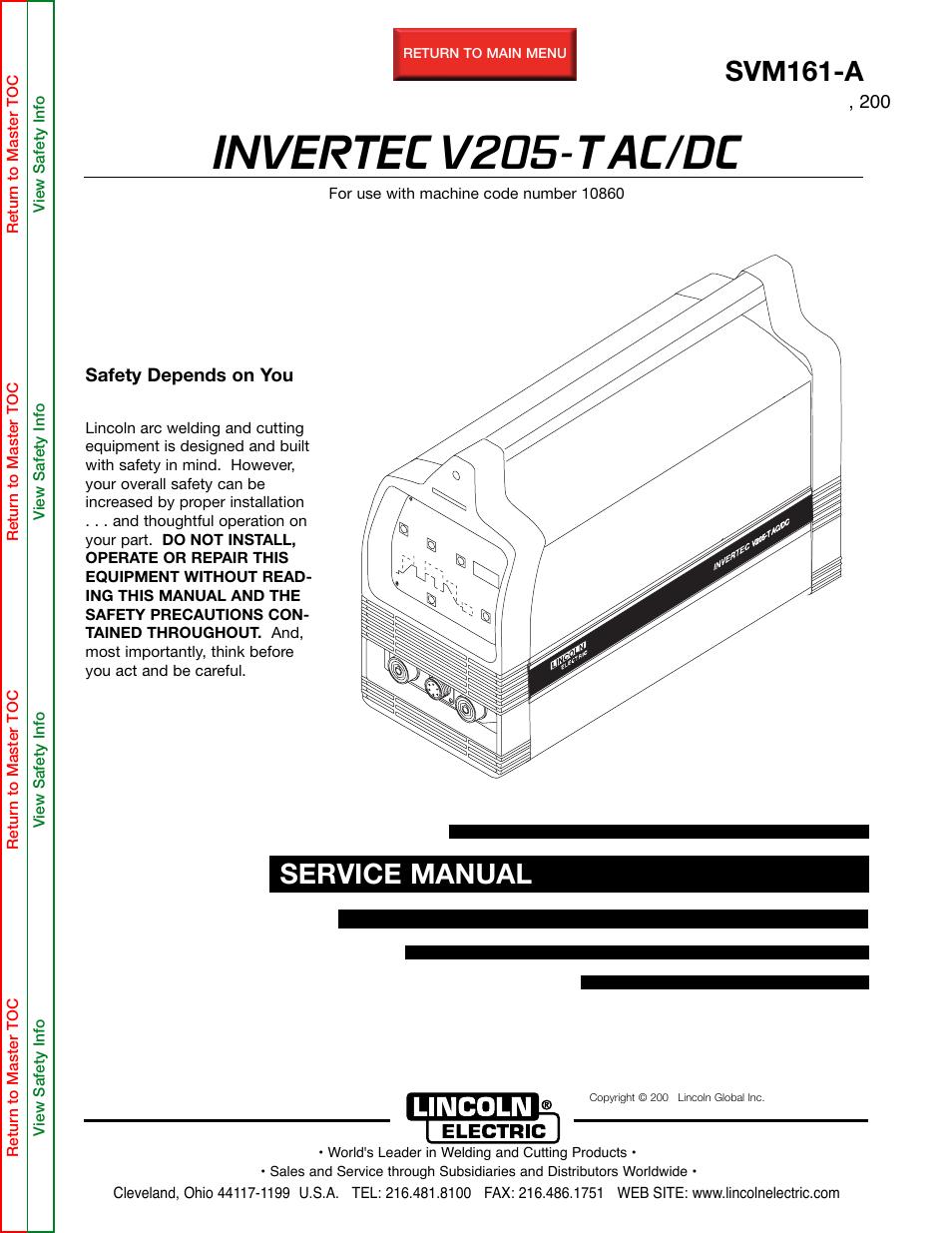 lincoln electric invertec v205 t user manual 109 pages rh manualsdir com Brian Johnson Bon Scott
