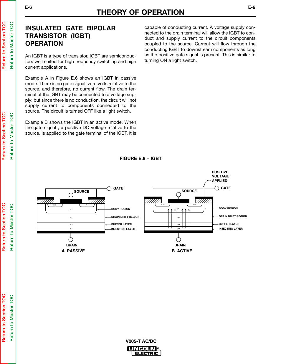 Theory Of Operation Insulated Gate Bipolar Transistor Igbt Switch Lincoln Electric Invertec V205 T User Manual Page 36 109
