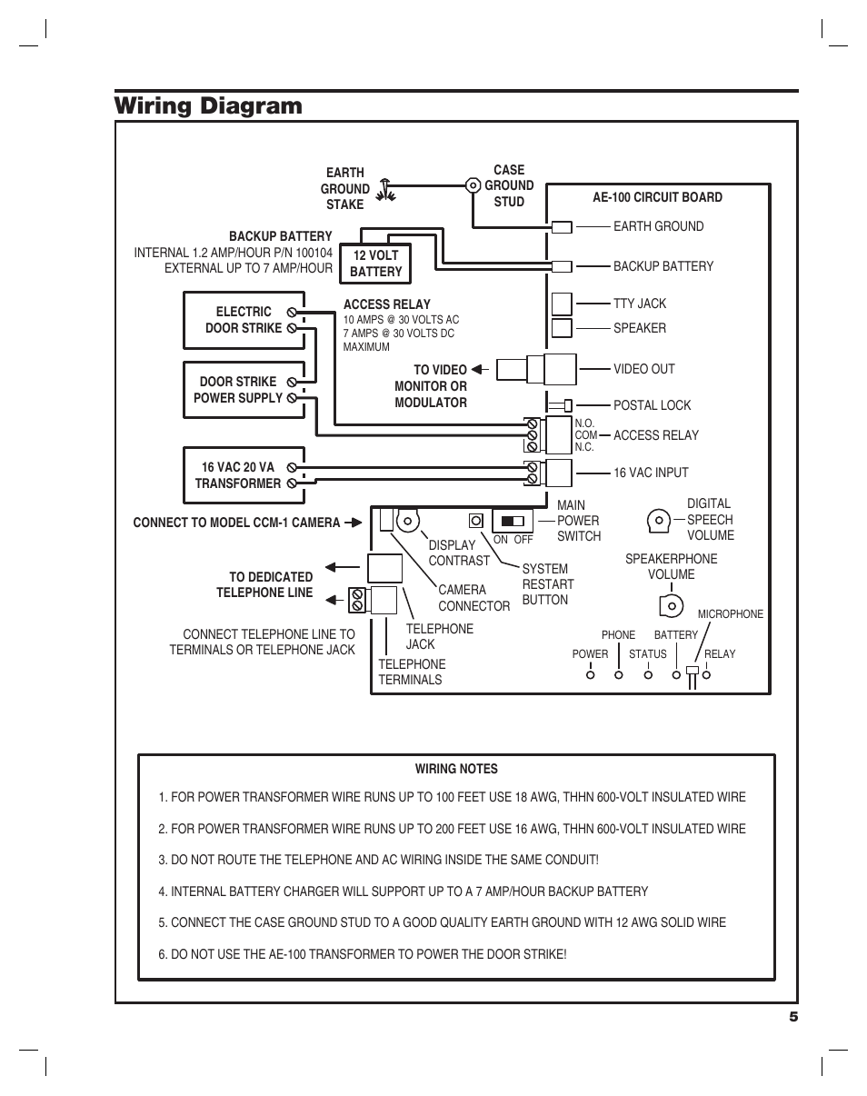 Wiring Diagram Linear Ae 100 User Manual Page 5 36 7 Amp 4 Pin Relay
