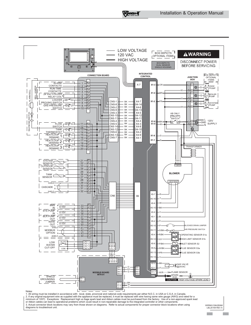Lochinvar Wiring Diagram Layout Diagrams 1996 Allegro Motorhome Installation Operation Manual High Voltage Low Rh Manualsdir Com Basic Electrical Residential