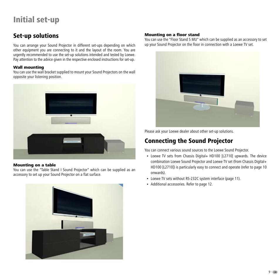 set up solutions wall mounting mounting on a table loewe rh manualsdir com Loewe TV US Loewe TV 2009