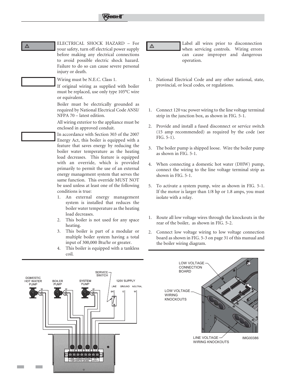 Field Wiring Installation Must Comply With Line Voltage Boilers Diagrams And Manuals Connections Lochinvar Outdoor Knight Boiler 151 286 User Manual Page 28 56