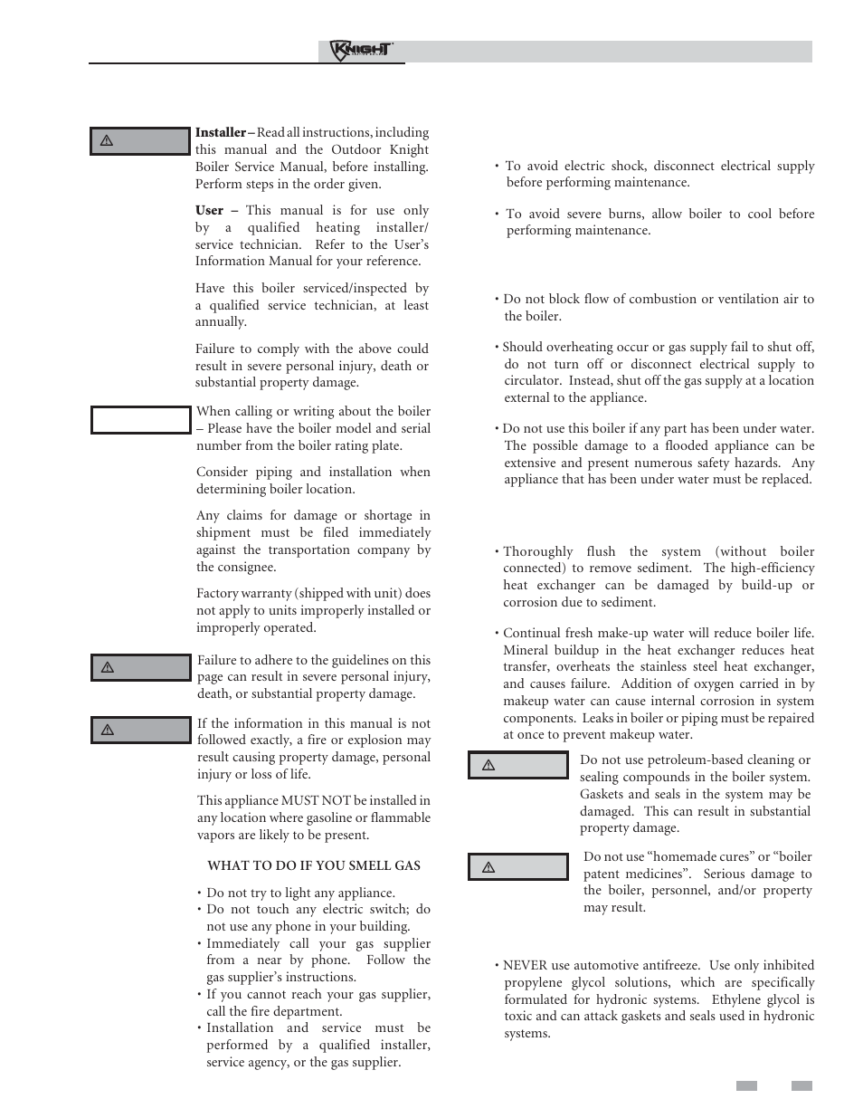 Please read before proceeding | Lochinvar Outdoor Knight Boiler 151 ...
