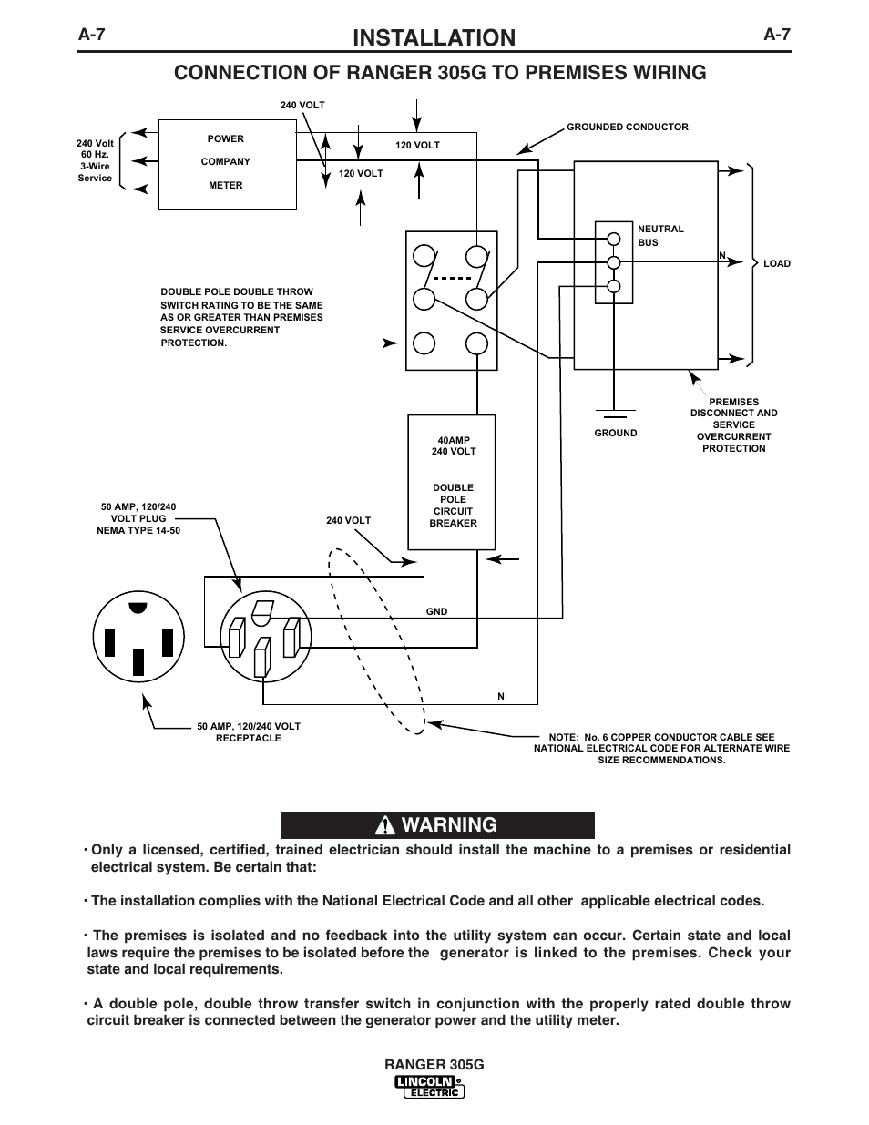 Lincoln 305g Wiring Diagram Library Electric Wire Installation Ranger User Manual Page 15 49