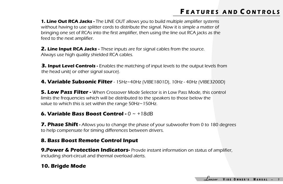 lanzar car audio vibe 3200d user manual page 8 15 original rh manualsdir com User Manual PDF Instruction Manual Book