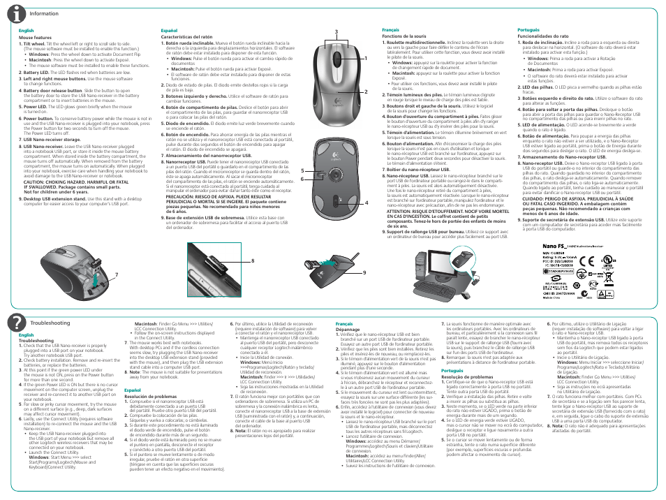 944fcf068ca Pdm-620-000706 005 back amr.pdf | Logitech CORDLESS LASER MOUSE V450 ...