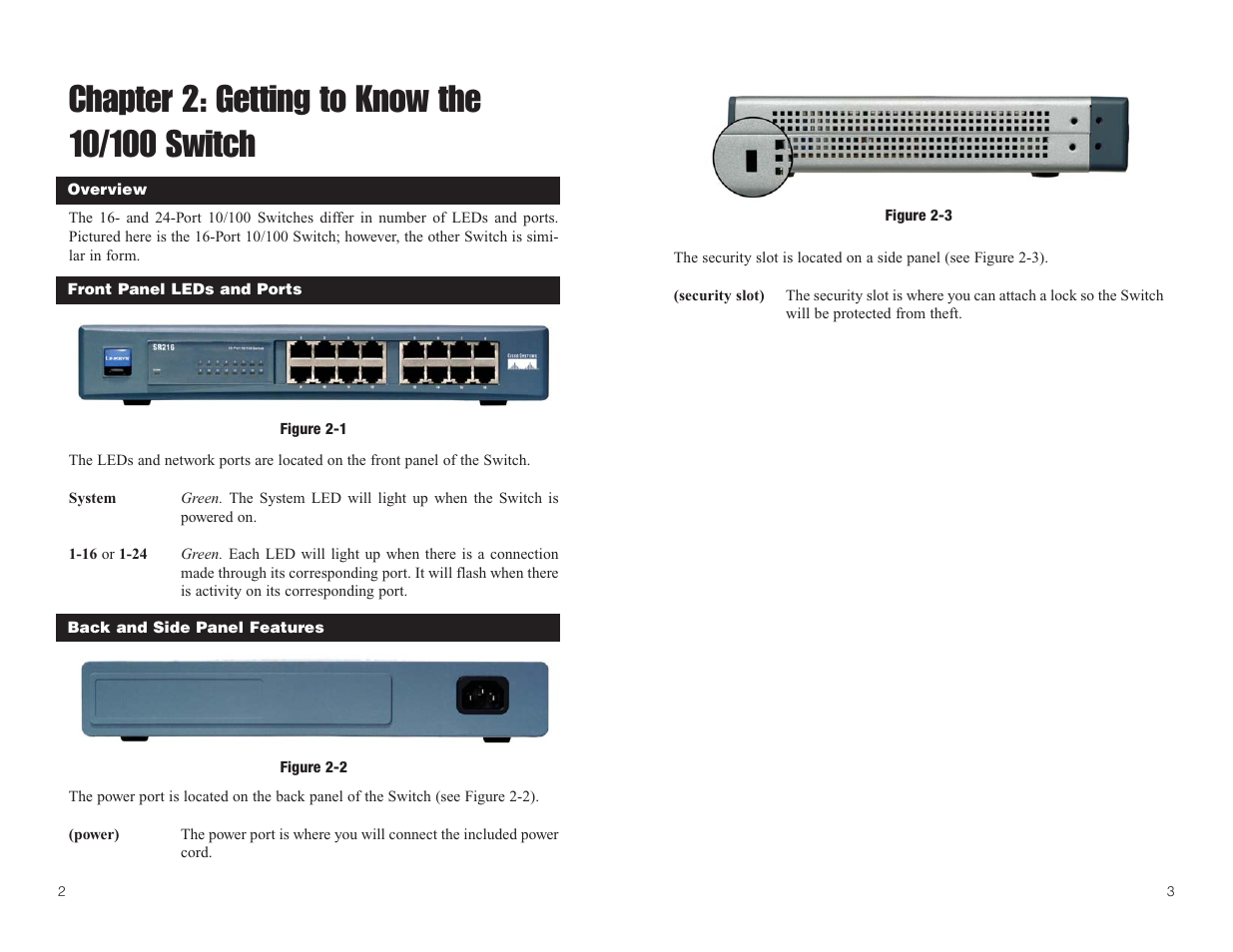 chapter 2 getting to know the 10 100 switch linksys sr224 user rh manualsdir com Linksys SR2024 Linksys Sr224