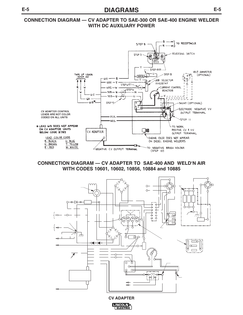 lincoln electric cv adapter im309 d page34 diagrams, cv adapter lincoln electric cv adapter im309 d user lincoln sae 400 wiring diagram at creativeand.co