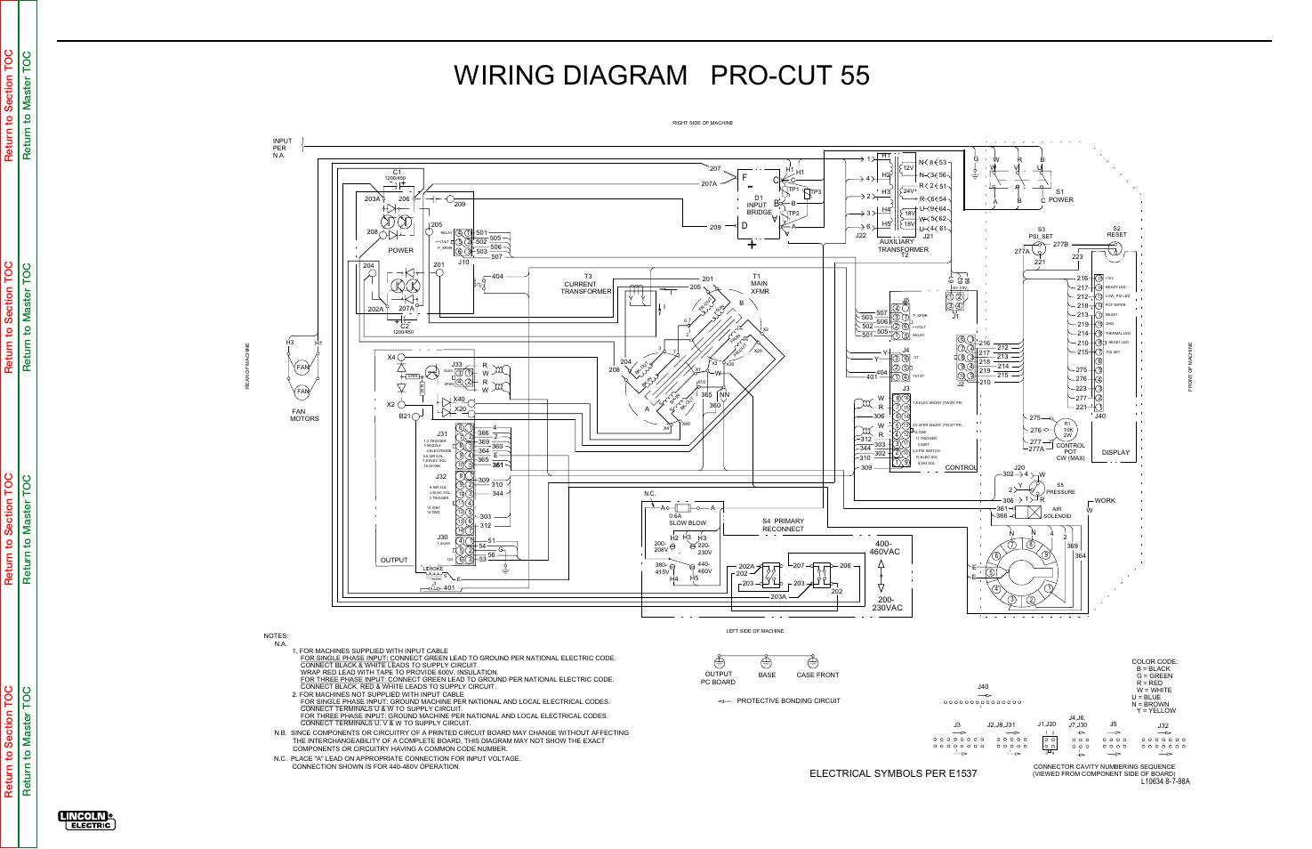 Wiring Diagram Pro Cut 55, Electrical Diagrams, Wiring Diagram 2001 Lincoln Navigator  Engine Diagram Lincoln Electric Wiring Diagrams