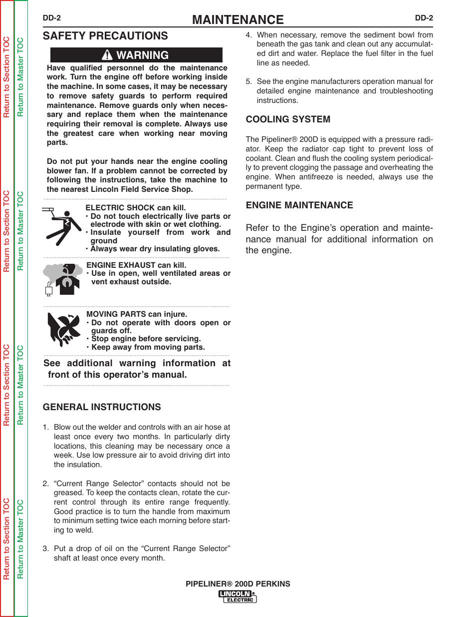 maintenance safety precautions warning lincoln electric rh manualsdir com Immigration Practice Manual DMV Practice Test Manual
