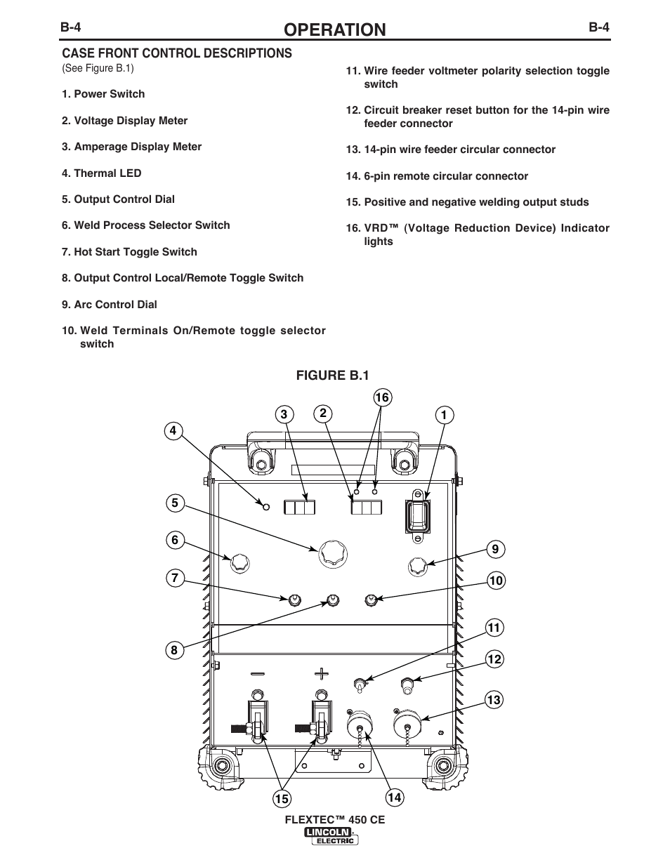 Operation Lincoln Electric Flextec 450 Ce User Manual Page 21 40 Remote Toggle Switch Circuit