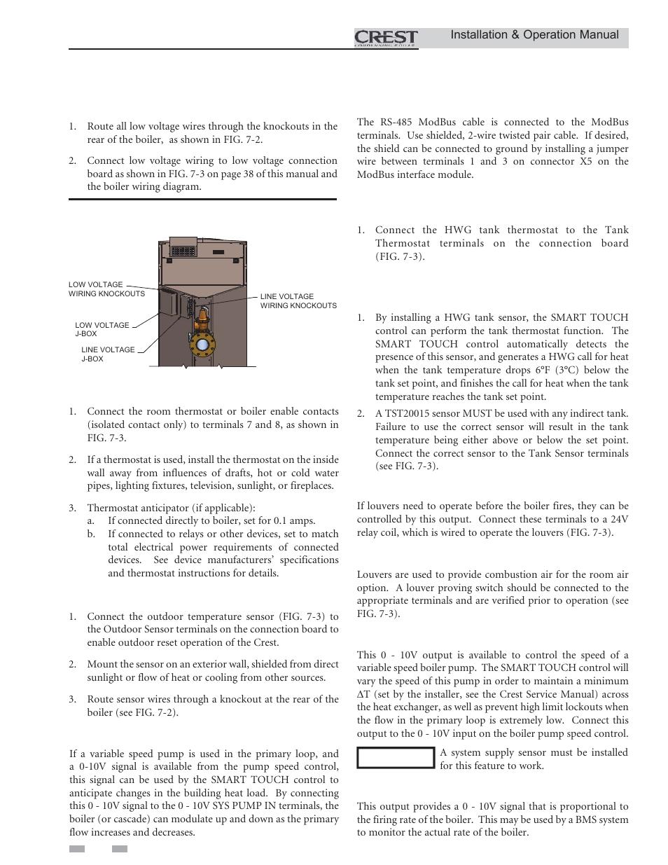 field wiring low voltage connections enable lochinvar crest 3 5 rh manualsdir com  lochinvar ftxl wiring diagram