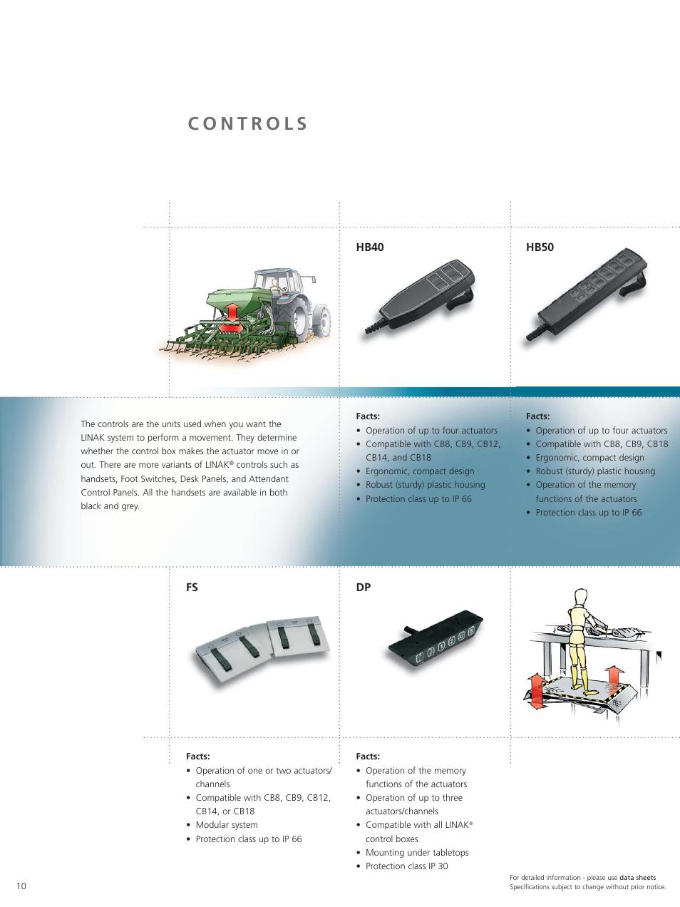 Hb40, Hb50 | Linak Techline Linear Actuator Technology User Manual