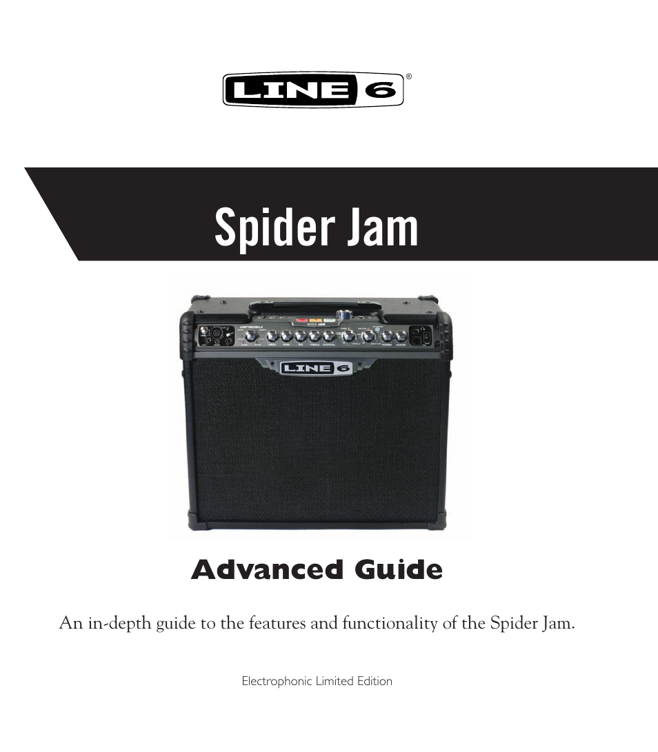 Line 6 Spider Jam Amp User Manual | 27 pages
