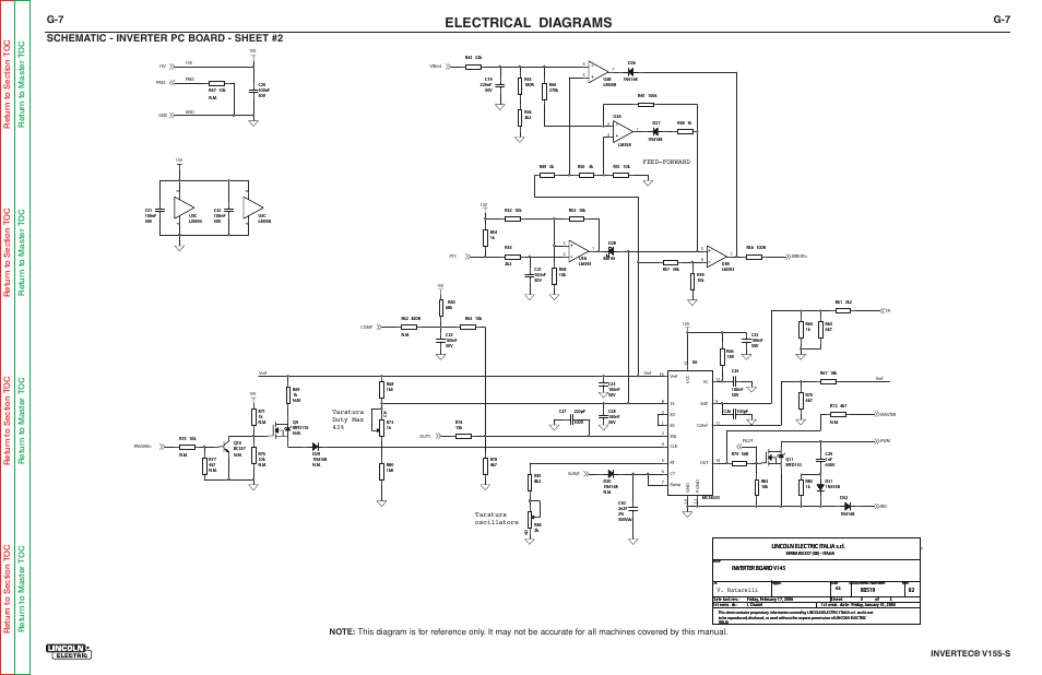 electrical diagrams  schematic - inverter pc board