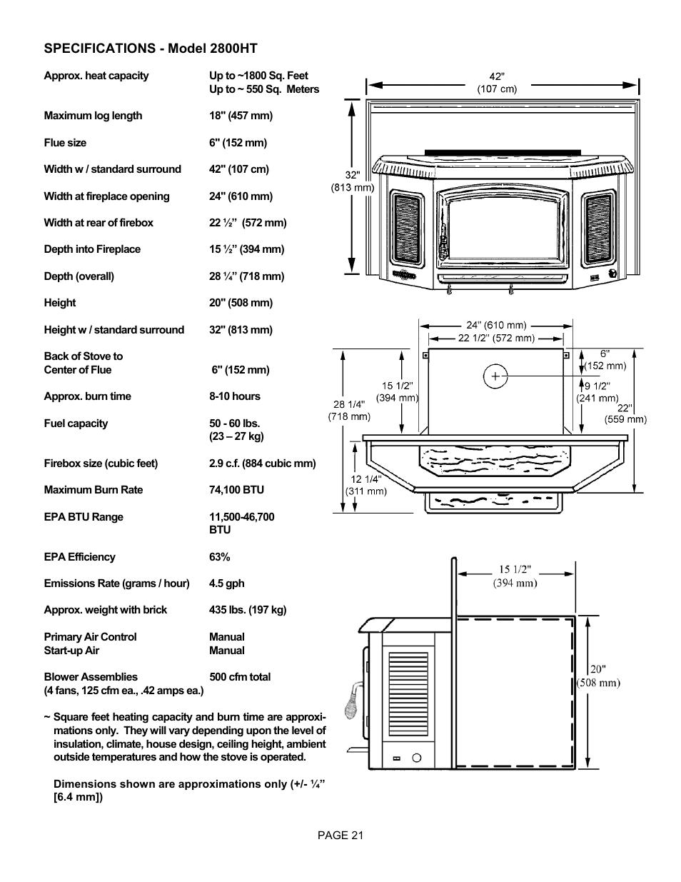 Lg Earth Stove 2800ht User Manual