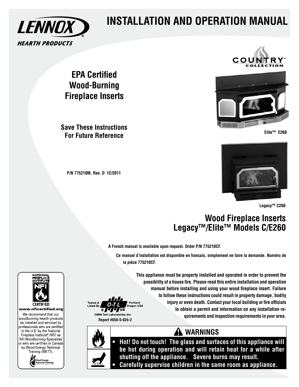lennox international inc legacy c260 user manual 26 pages rh manualsdir com lennox owners manual lennox owners manual cbx25uh