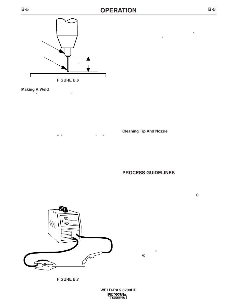 Operation | Lincoln Electric WELD-PAK 3200HD User Manual | Page 19 / 48