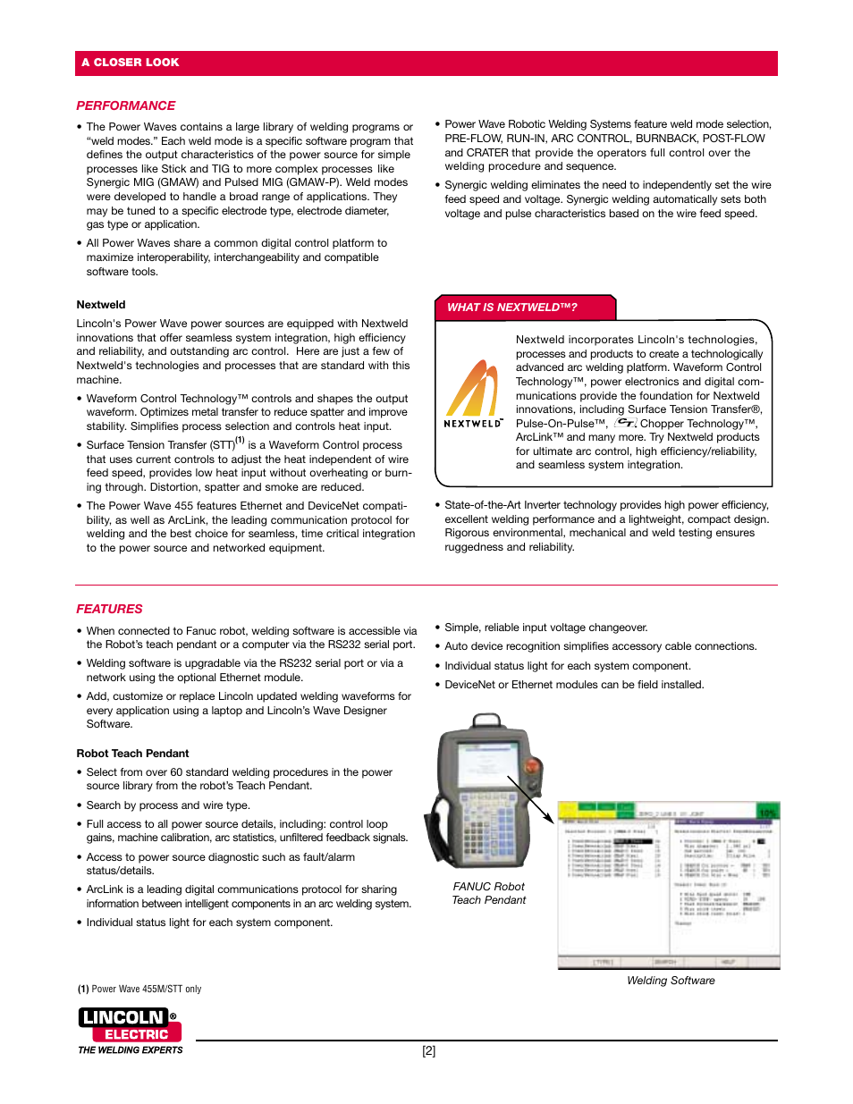 Lincoln Electric Power Wave 455M Robotic User Manual | Page