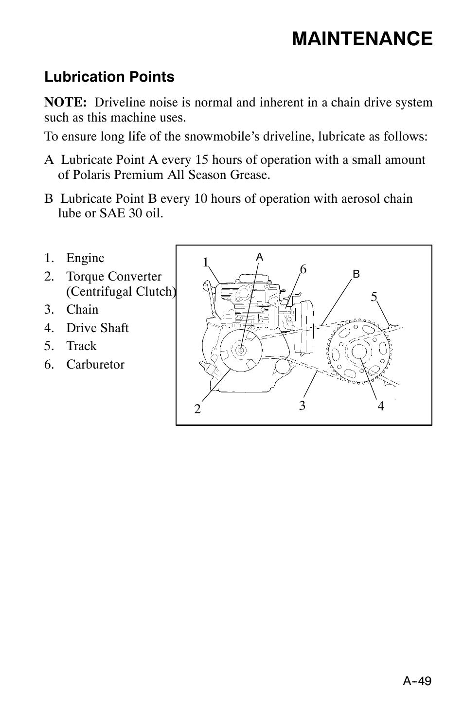 Maintenance | Polaris 120 XC SP User Manual | Page 68 / 98