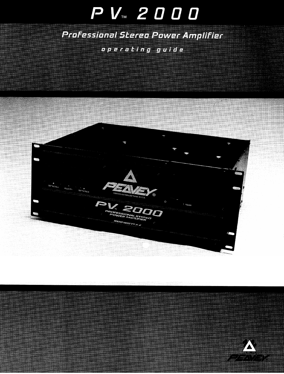 peavey pv 2000 user manual 28 pages rh manualsdir com User Webcast Kindle Fire User Guide