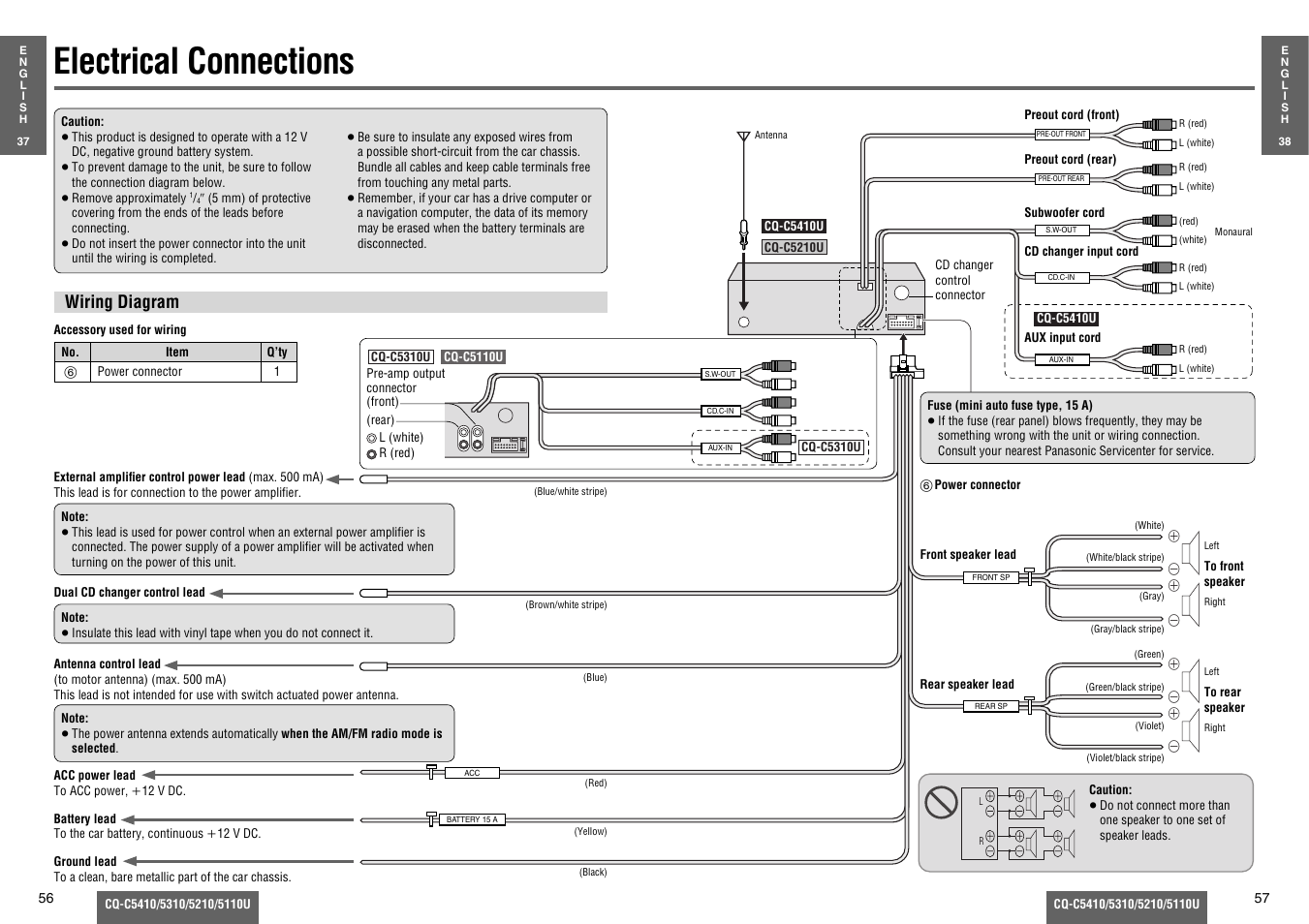 Panasonic Cq C5110u Wiring Diagram Detailed Diagrams Cd Player Harness Further Car Stereo Electrical Connections C5310u User Petsafe