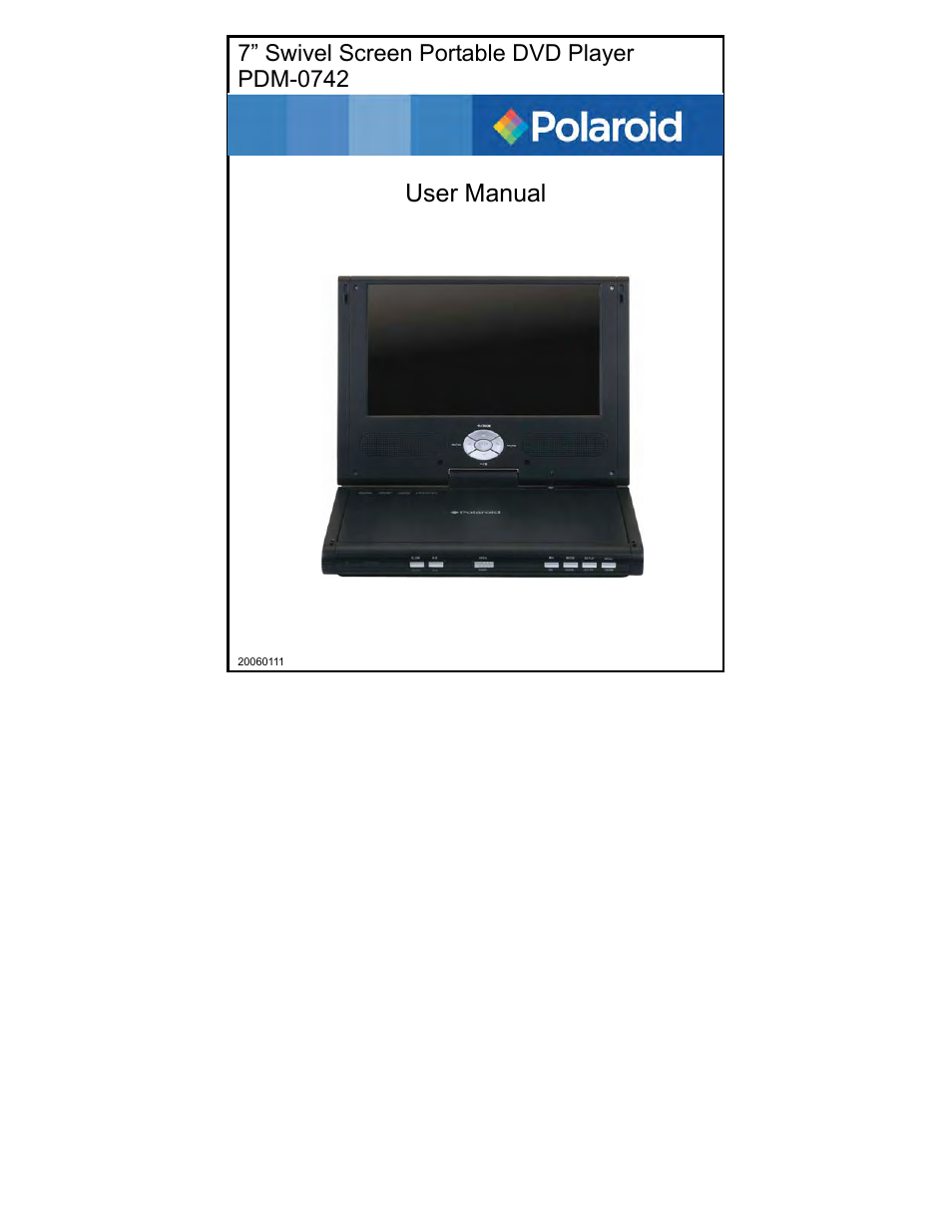 polaroid pdm 0742 user manual 38 pages rh manualsdir com Polaroid Portable DVD Player PDM-0711 Polaroid Portable DVD Player Battery