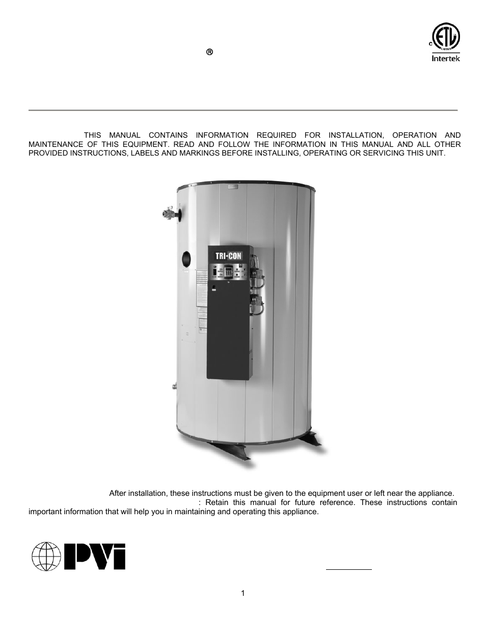 pvi boiler manuals enthusiast wiring diagrams u2022 rh rasalibre co Lochinvar Boilers Maxim PVI Water Heaters