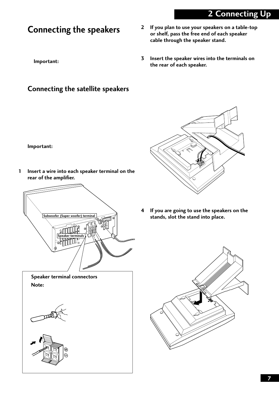 Connecting The Speakers 2 Up Satellite How To Wire Together Pioneer M F10 User Manual Page 7 40