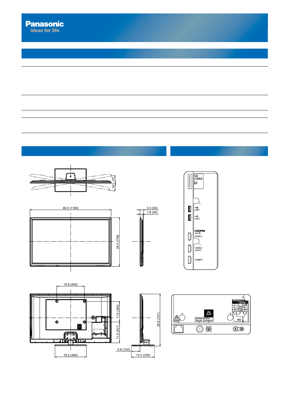 detailed specification sheet for tc p50st50 tc p50st50 rh manualsdir com panasonic viera tc-p60st50 manual Panasonic Tc- 58Ax800u Wiring