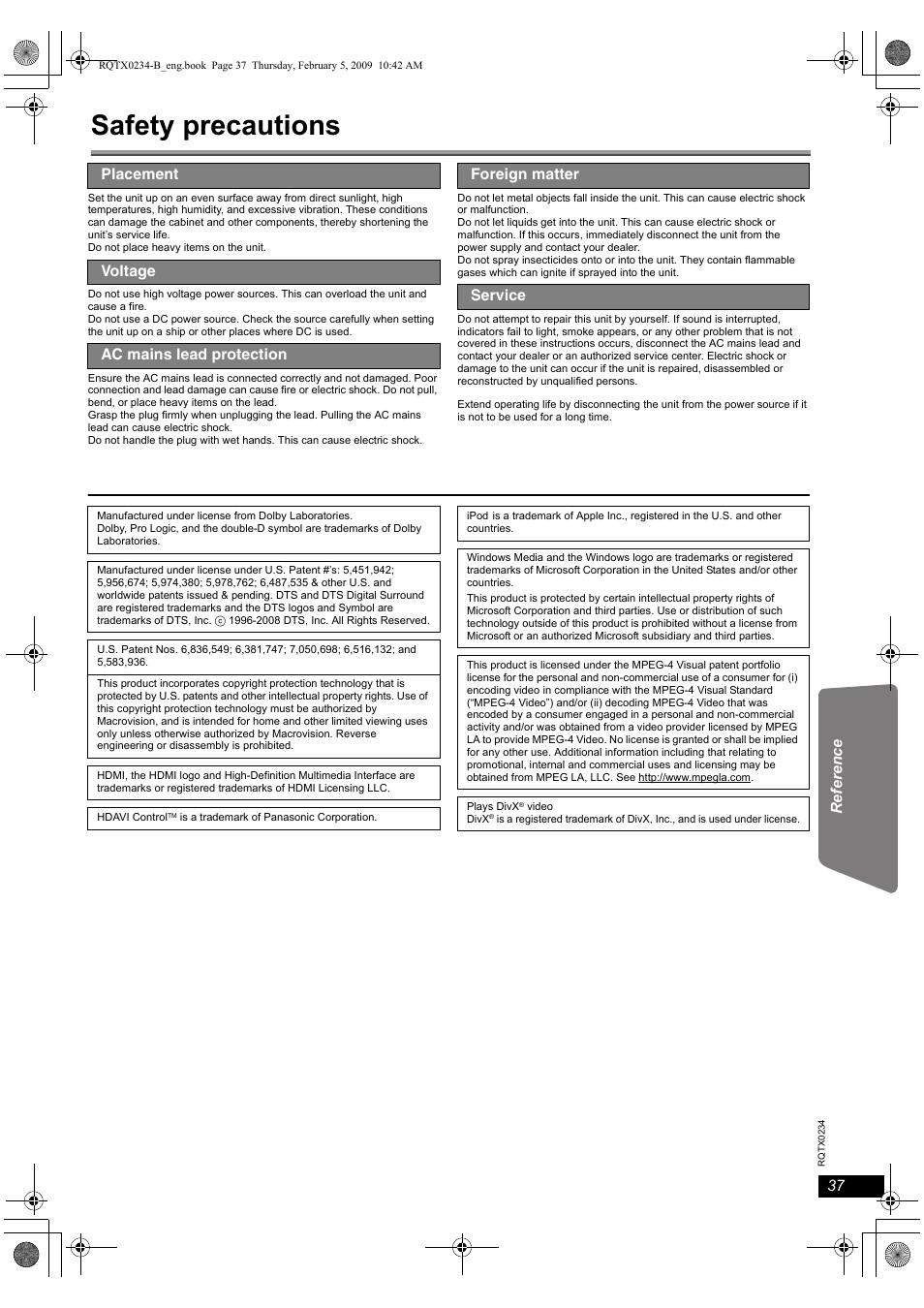 safety precautions panasonic sc pt875 user manual page 37 40 rh manualsdir com Apple iPad User Guide Manual Apple.com Support
