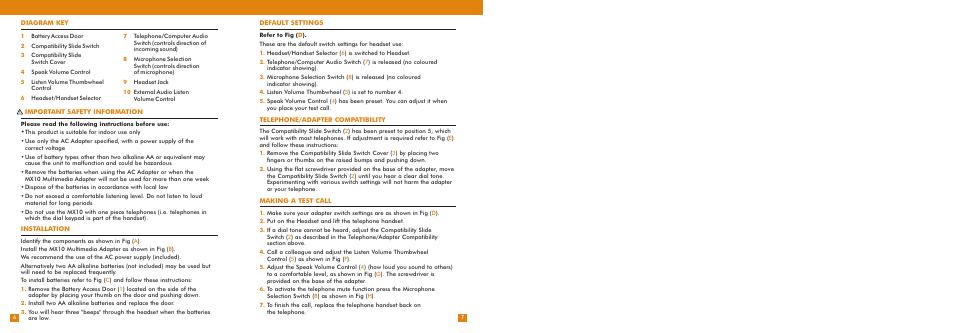 plantronics instruction manual