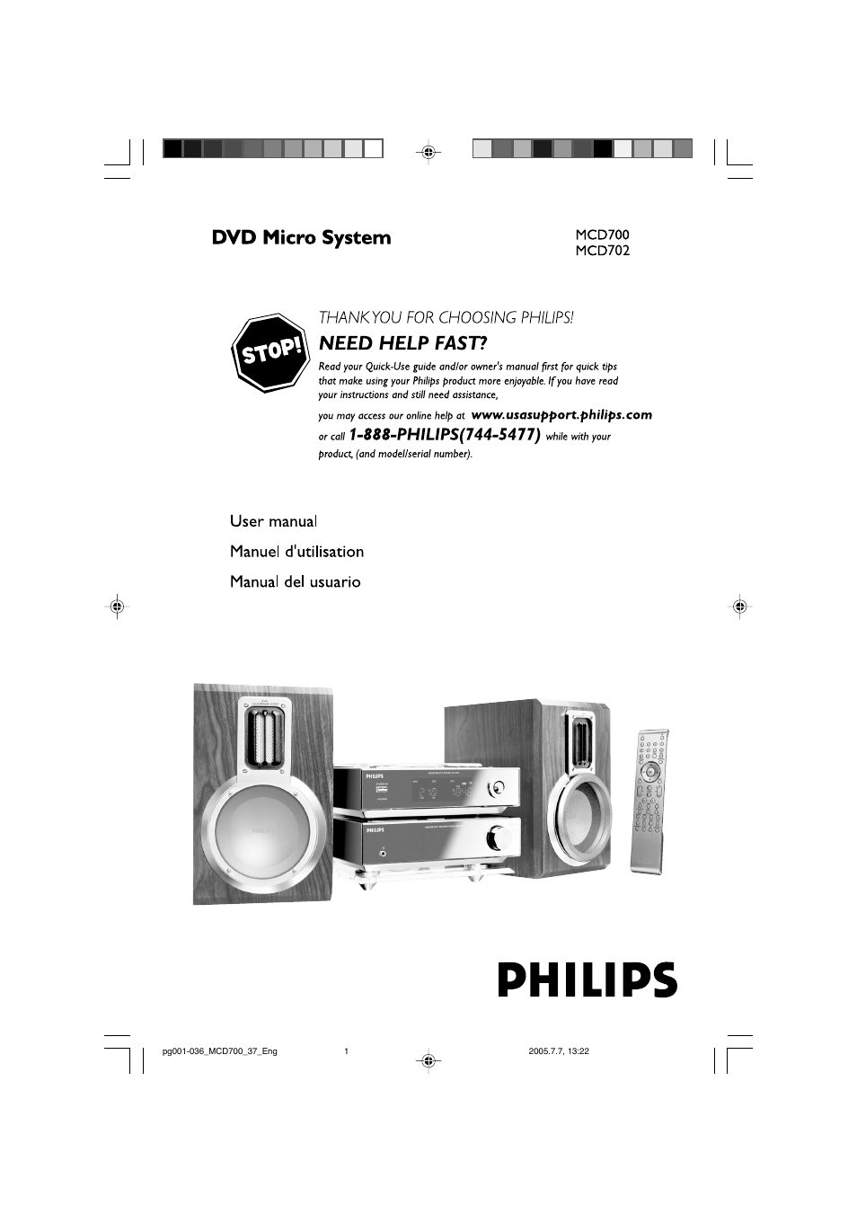philips dvd micro theatre mcd702 user manual 36 pages rh manualsdir com Philips Instruction Manuals Philips Television