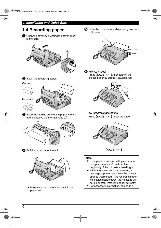 manual do fax panasonic kx-ft902
