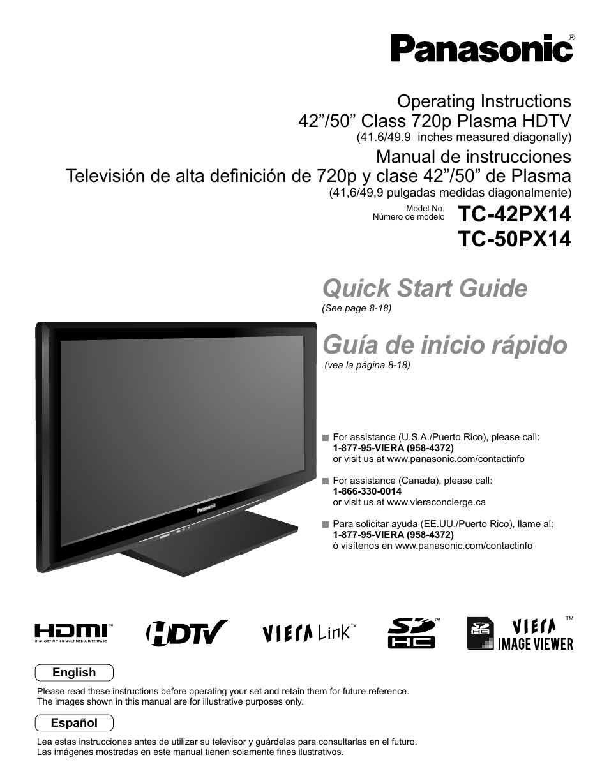 Panasonic Viera 50 Inch Led Tv Manual - All Product From Panasonic