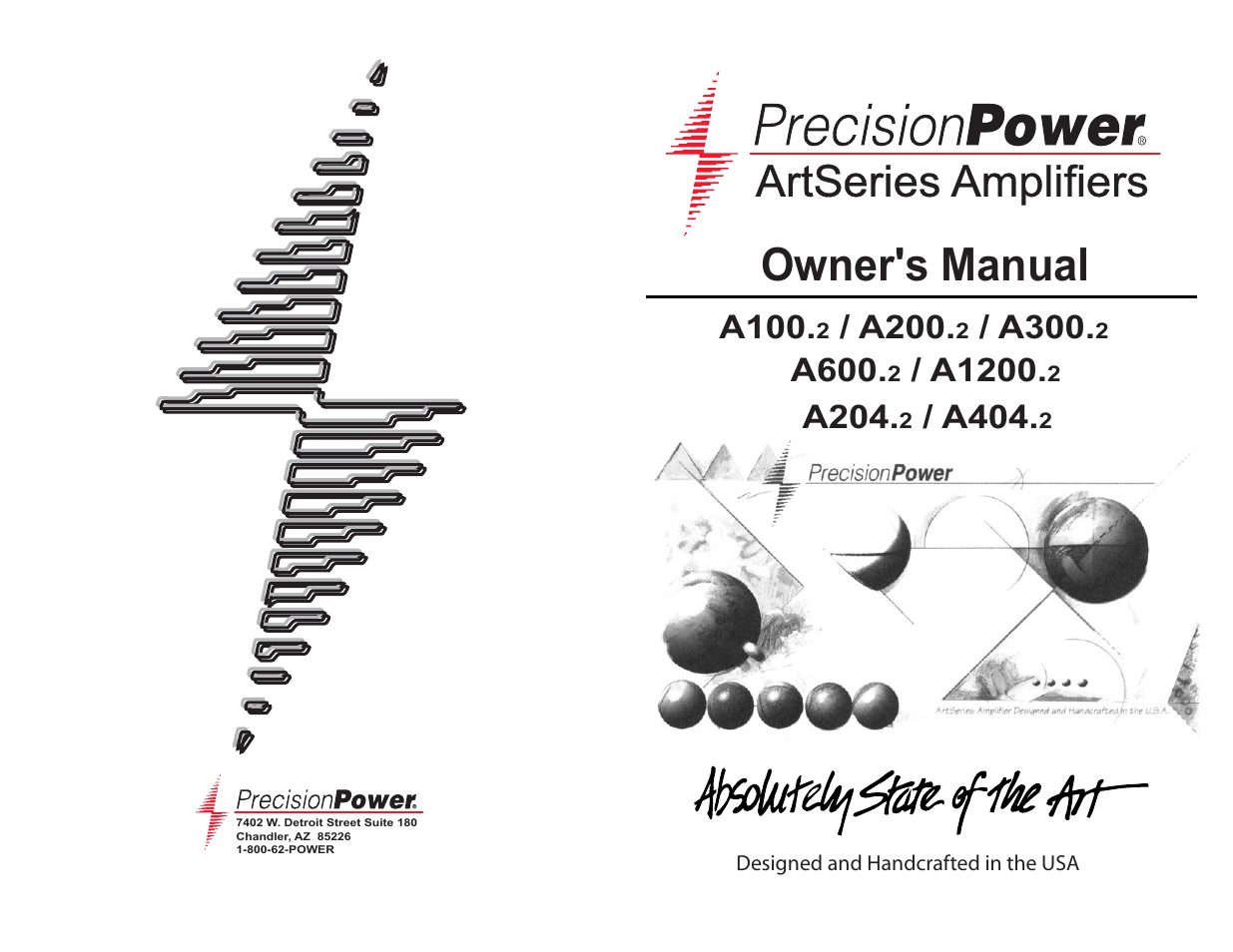 precision power a100 2 user manual