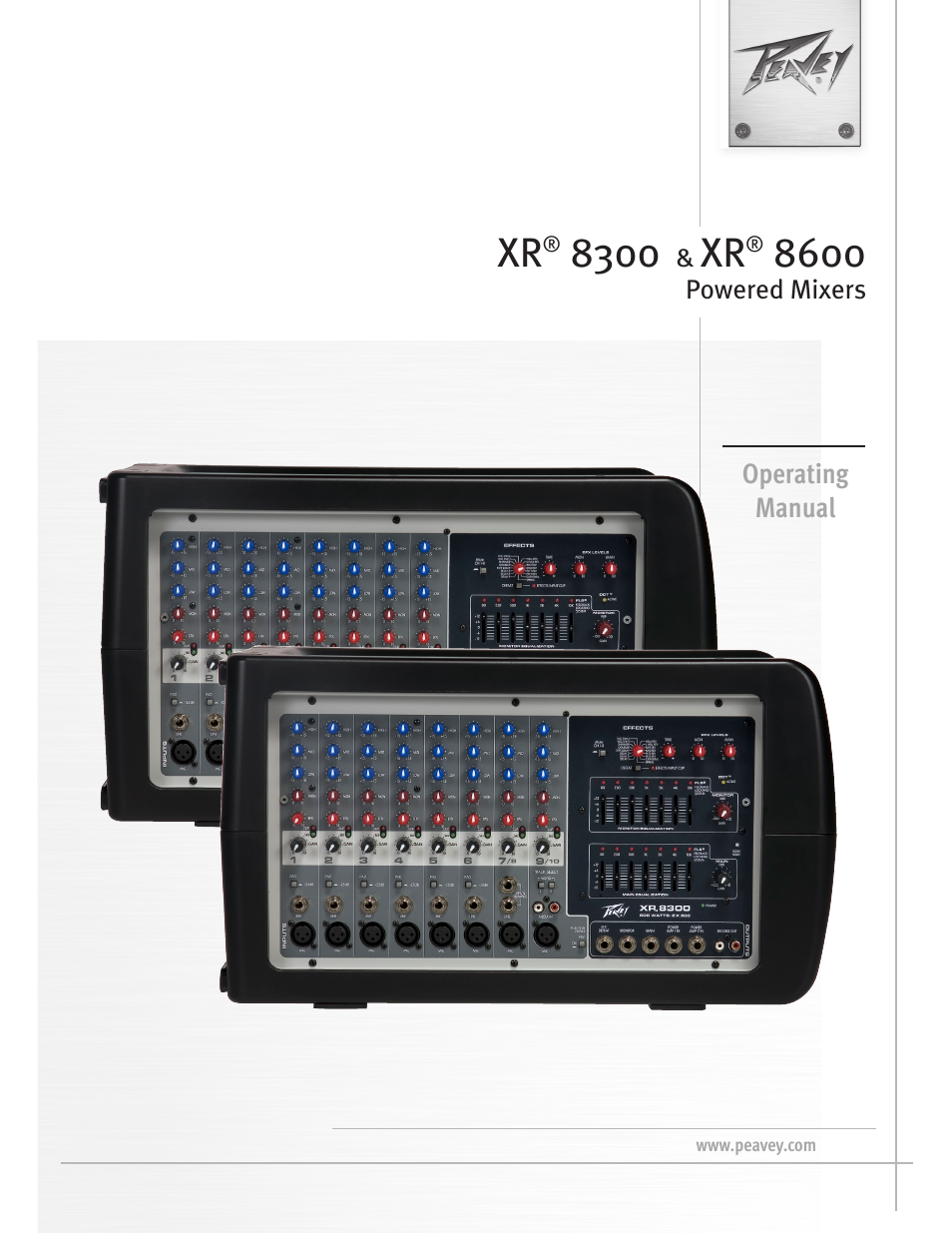peavey xr 8600 user manual 20 pages also for xr 8300 rh manualsdir com Used Peavey XR 8300 Powered Mixer and Amps