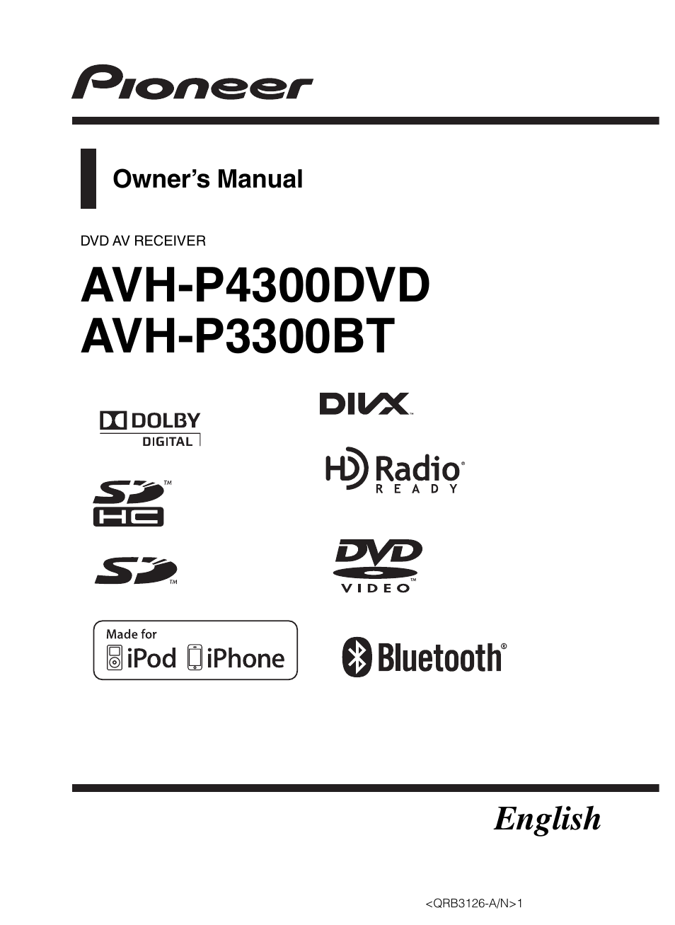 Pioneer Avh P3300bt Manual Best Setting Instruction Guide P3200bt Wiring Diagram User 112 Pages Rh Manualsdir Com