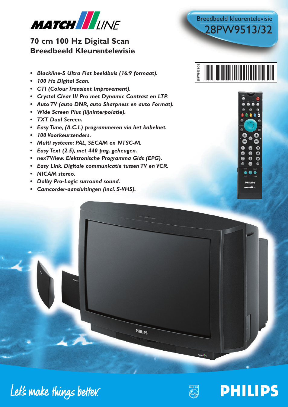 philips match line 28pw9513 32 user manual 2 pages original mode rh manualsdir com philips tv user manual download philips tv user guide