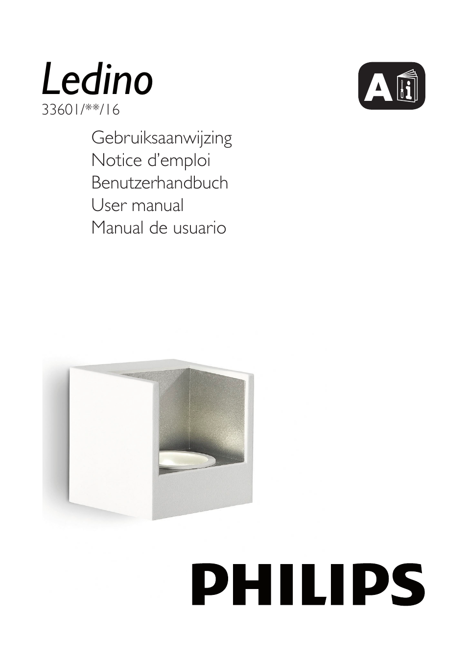 Philips ledino 33601 30 16 user manual 40 pages also for Philips ledino applique murale exterieur