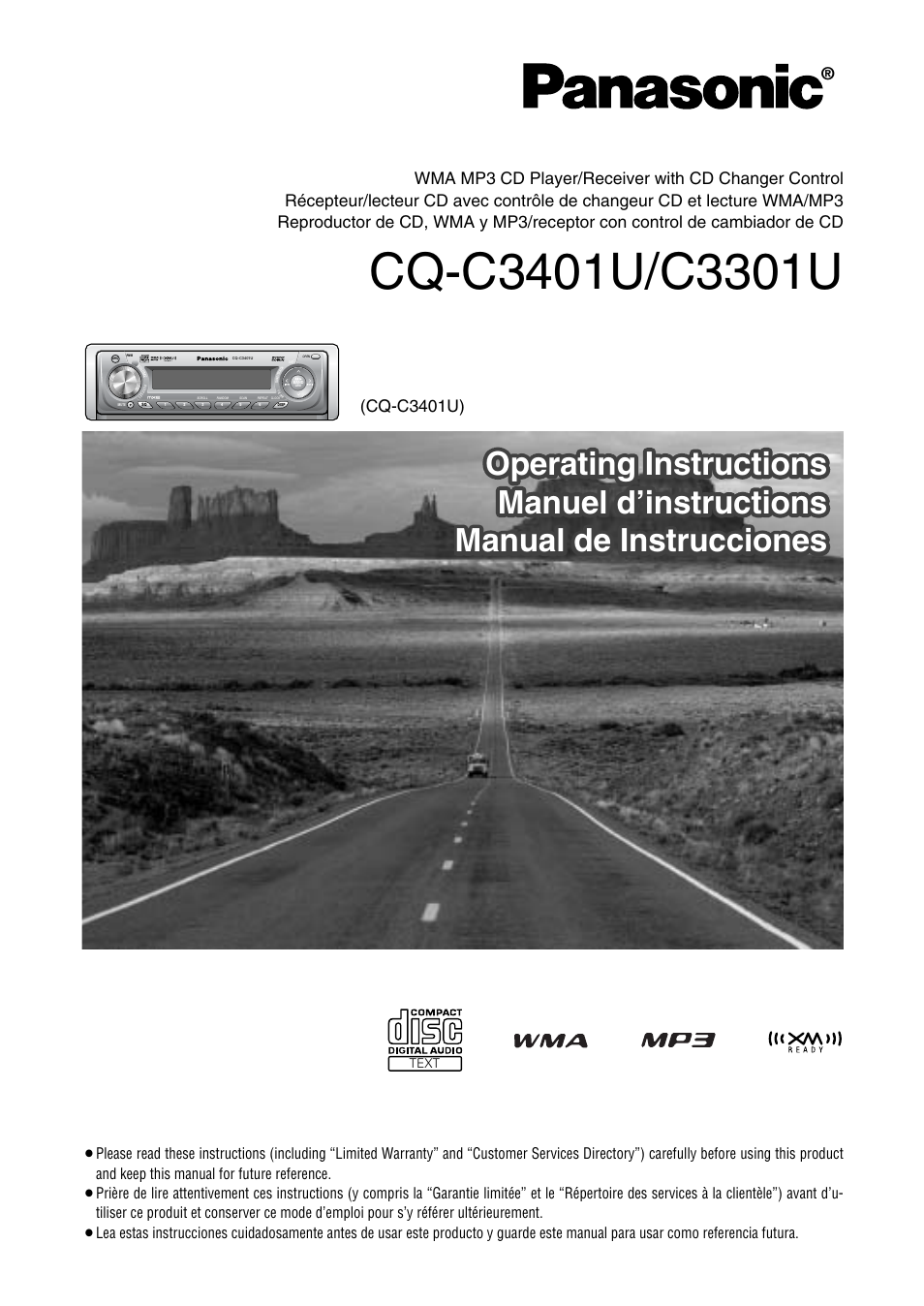 Panasonic Cq C3301u Wiring Diagram Free Download Cd User Manual 36 Pages Also For C3401u Radio Harness At
